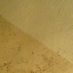 enduit terre et paillettes de lin et badigeon de terre